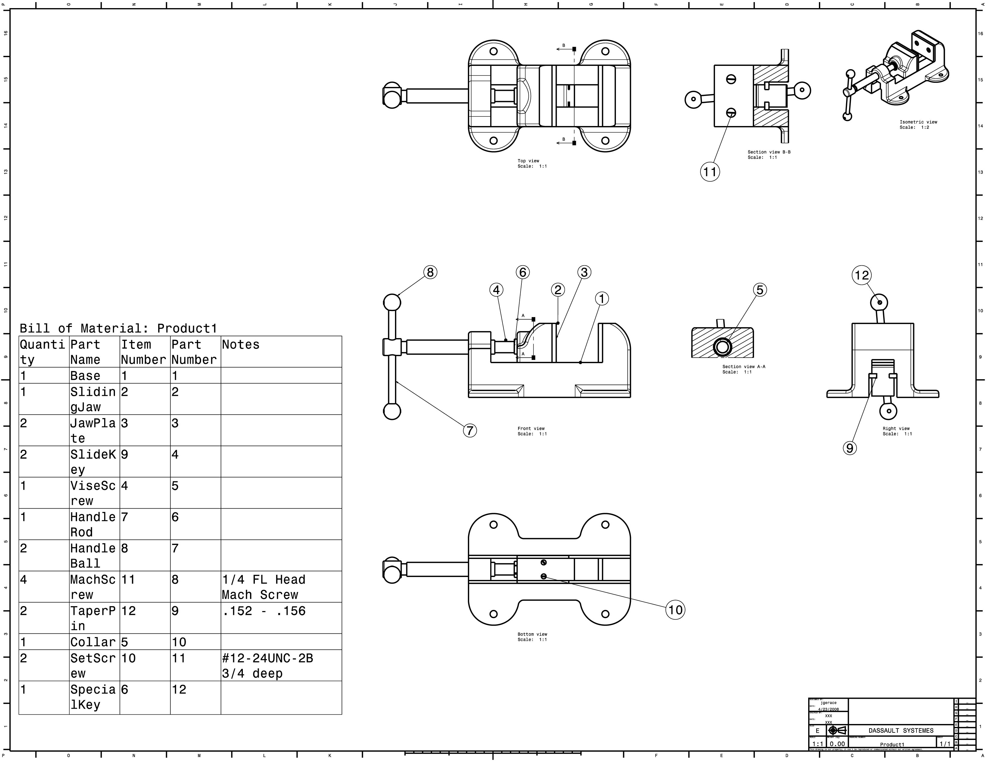 machine vise assembly